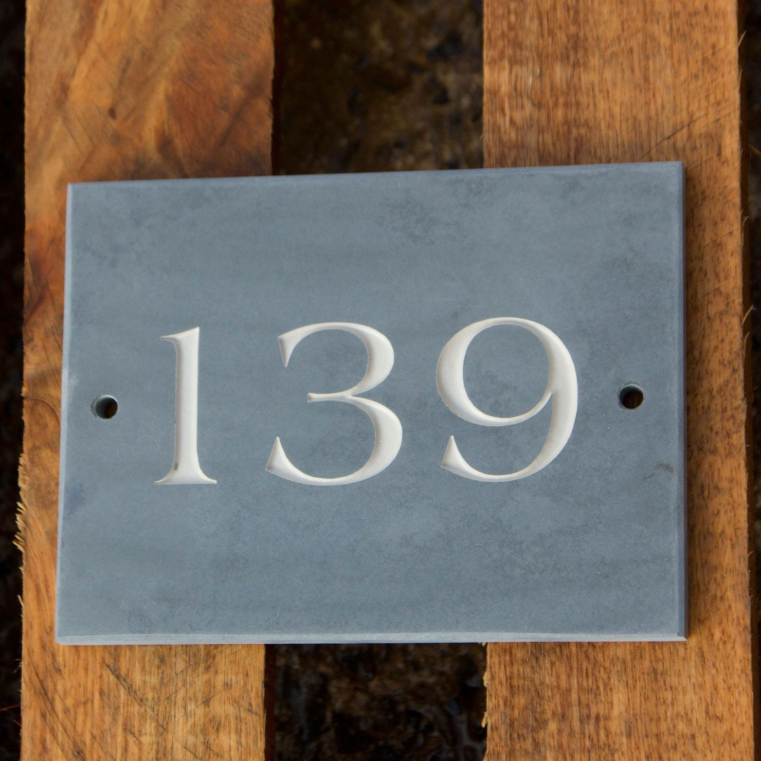 House Number Plaques Slate: Slate House Numbers Signs