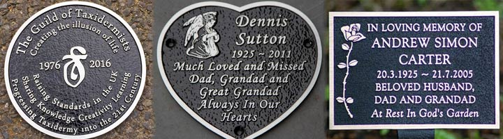 Cast Aluminium Memorial Plaque