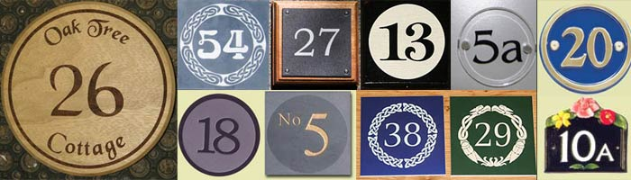 House Address Numbers & House Number Signs