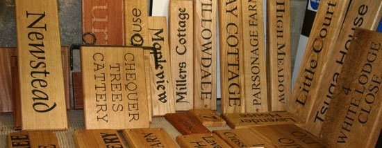 Wooden House Signs Wood Name Plates The Sign Maker