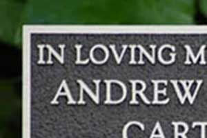 "Online Sign Maker | 3"" High Cast Aluminium Memorial Plaques"