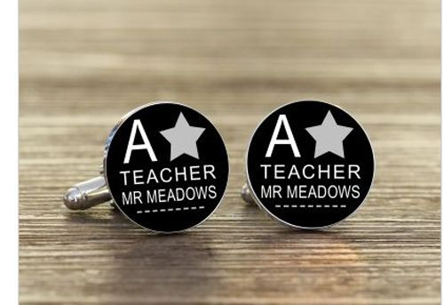A * Teacher Cufflinks