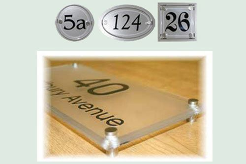 Acrylic Glass House Numbers Signs