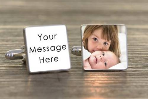 Any Message Photo  Cufflinks