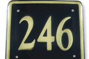B18 - Rectangle Brass House Number