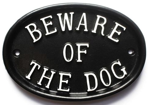 BEWARE OF THE DOG (large)