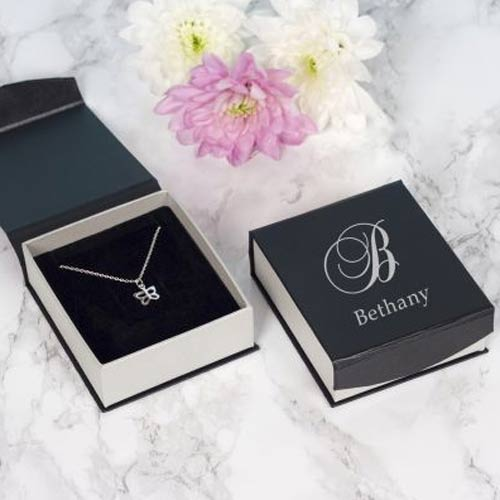 Butterfly  Necklace - Initialed Box