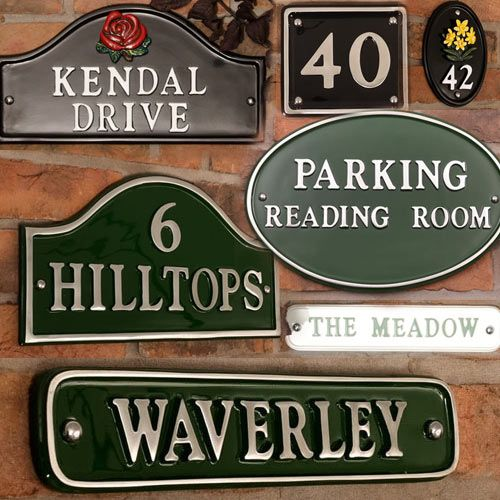 Cast Aluminium Painted Name Plates