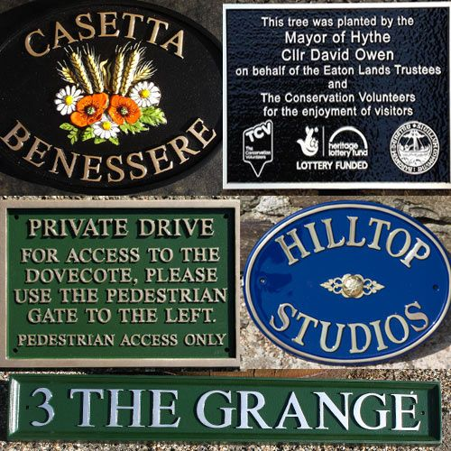 Cast House Signs