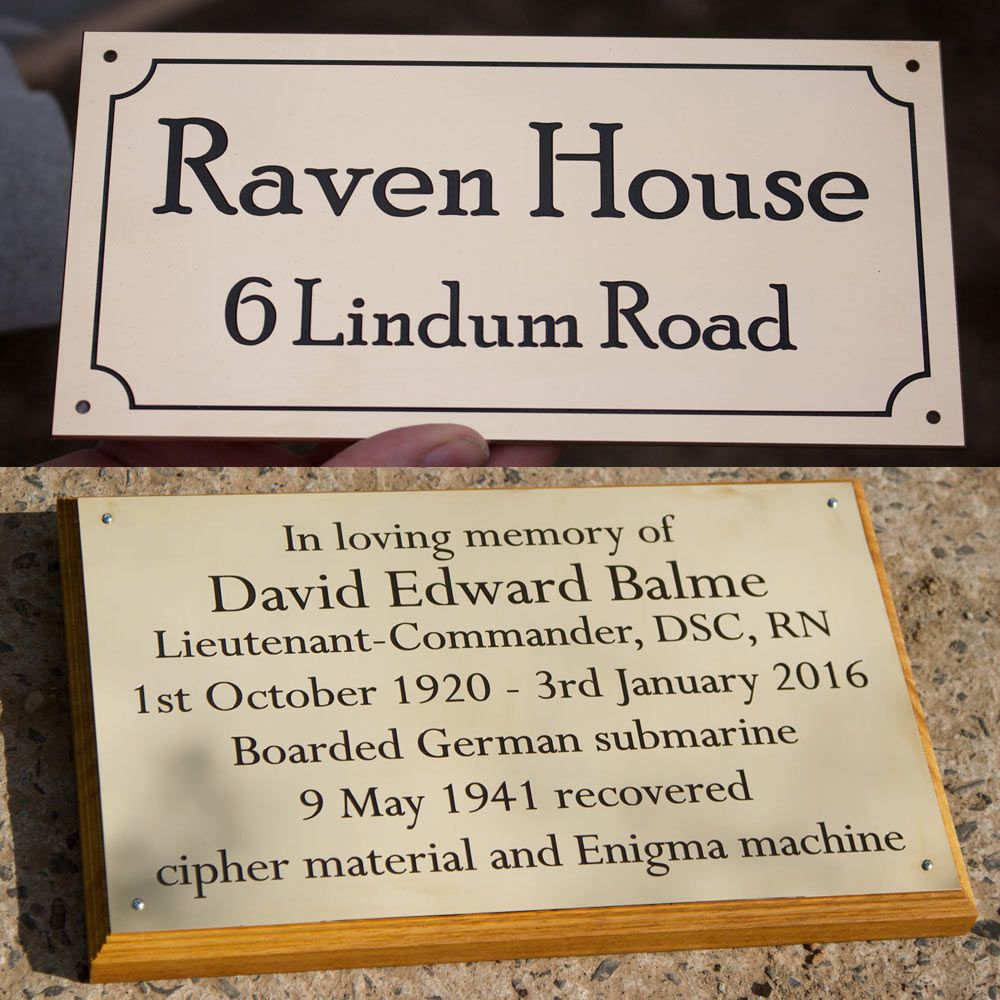 Deep Engraved Brass Plaques