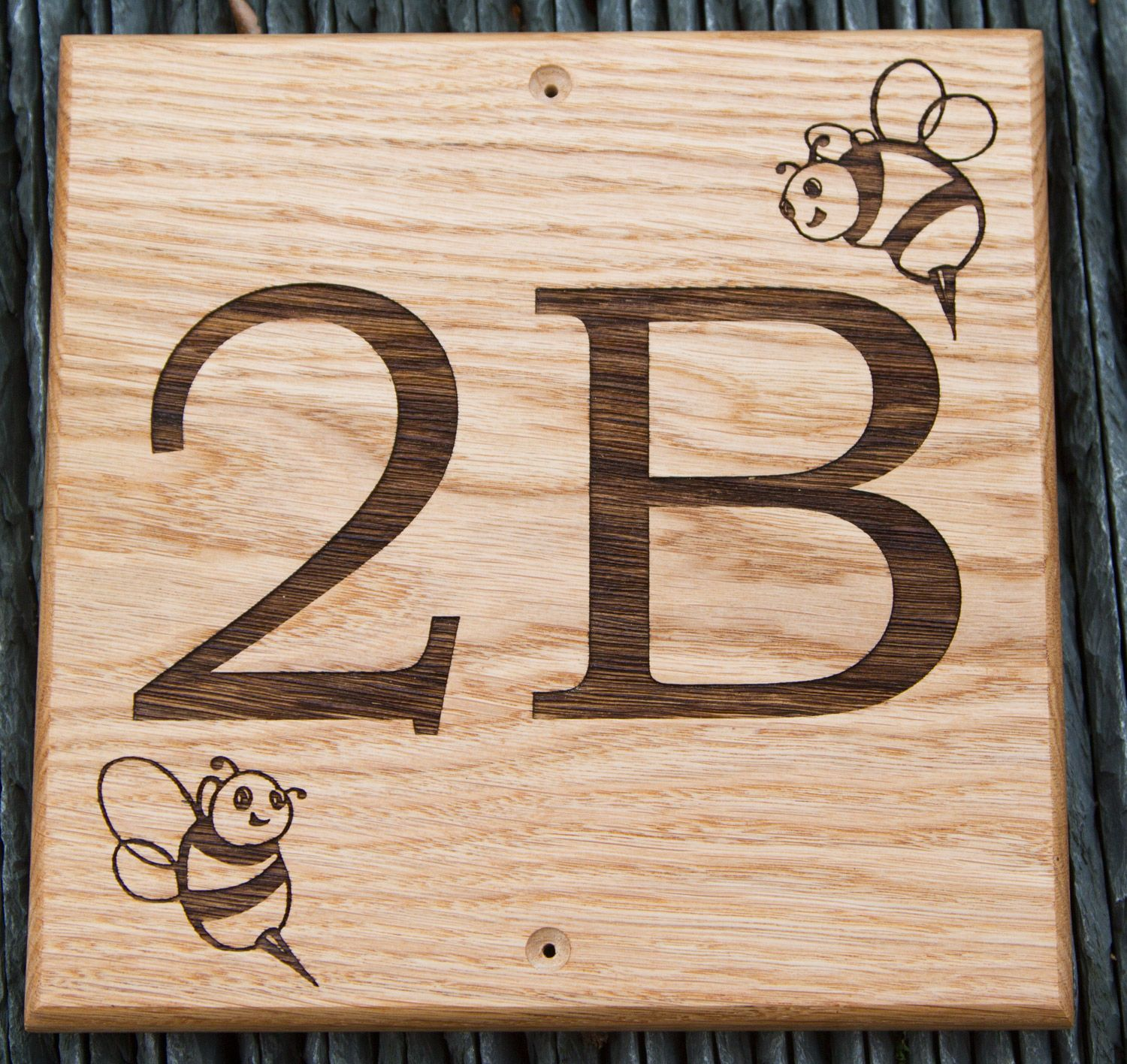 Elegant Wooden House Numbers