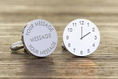 Engraved Message & Clock Cuffllink