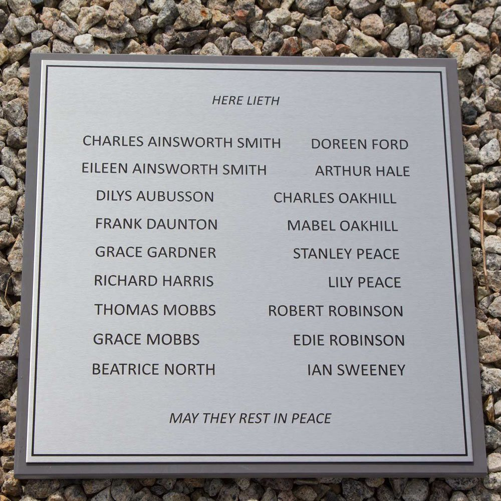 Engraved Stainless Steel Plaques