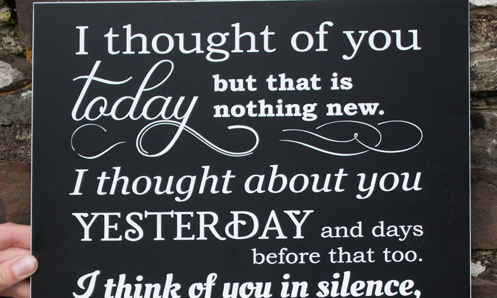 Engraved Wall Plaque - I thought of you today