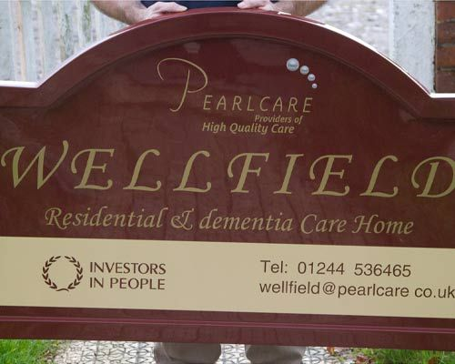 Extended Tombstone Fibreglass Signs (GRP)