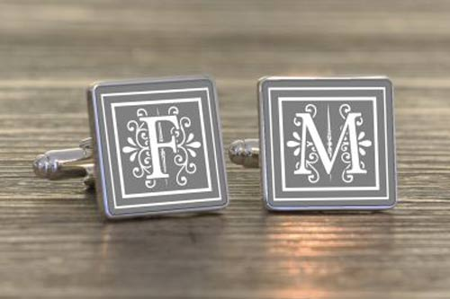 Fancy Initial Cufflinks