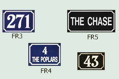 French Style Metal House Signs, House Numbers & Gate Signs