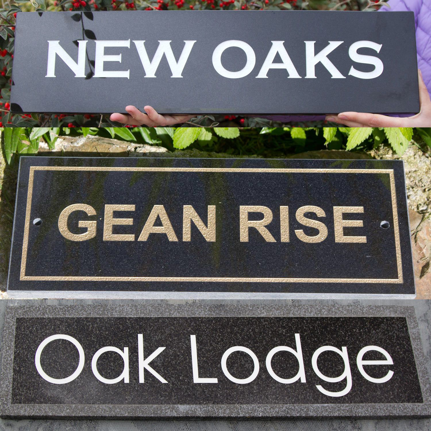 Granite & Marble House Name Plates 10mm thick