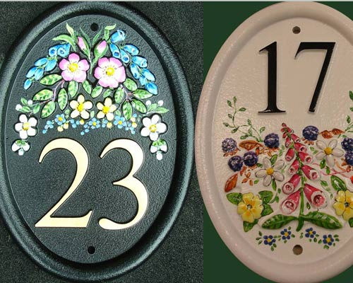 Hand Painted Cast Numbers
