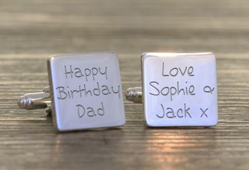 Happy Birthday Dad Cufflinks