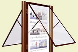 Heavy Duty Double Sided Door Landscape Notice Board - 75mm Profile