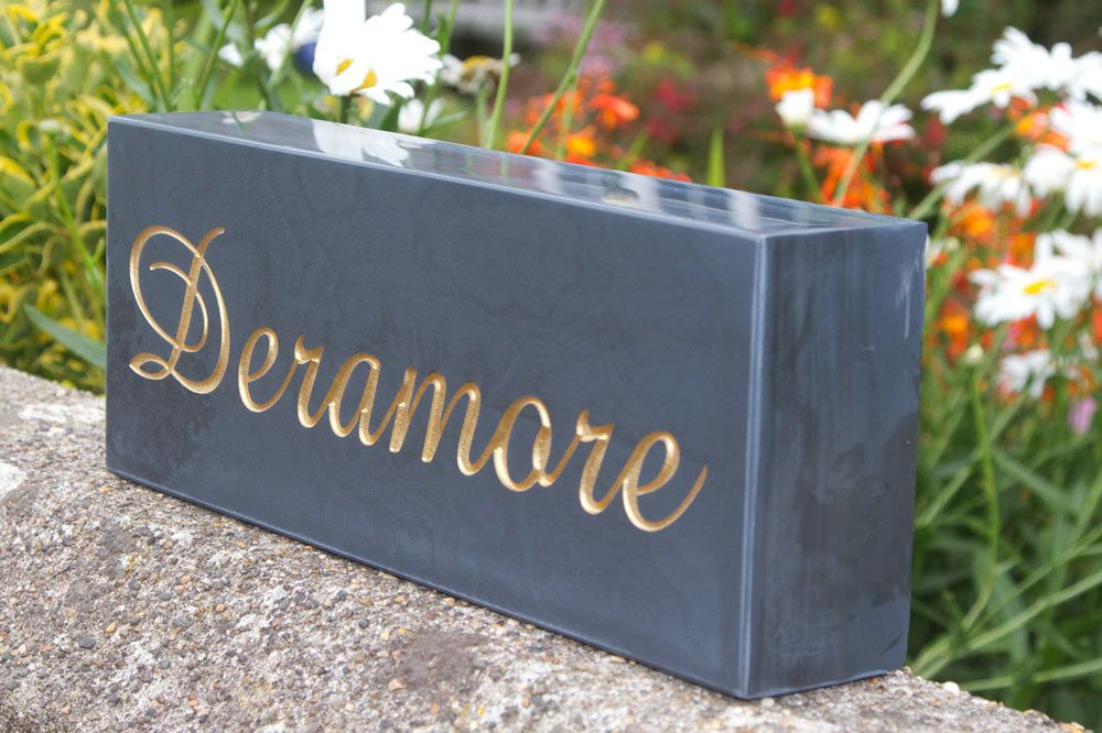 Heavy Slate Signage  & Memorial Stones -  50mm Thick
