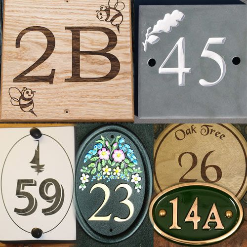 House Number Signs & House Numbers