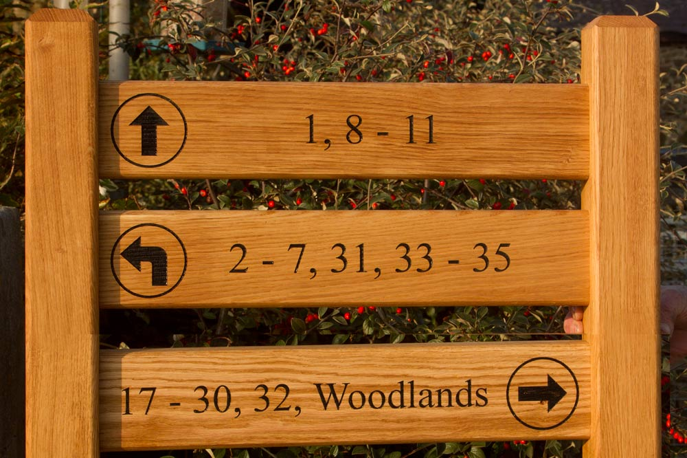 Ladder Sign With 3 Panels and Posts