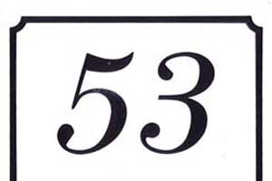 Laminate House Number Signs