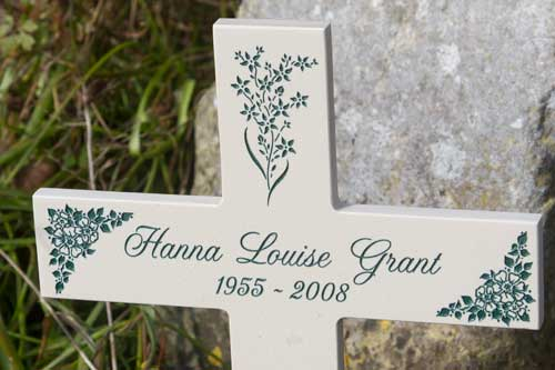 Memorial Crosses made in Stone-Like Corian