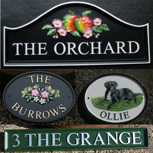 Modern Hand Painted Cast Signs