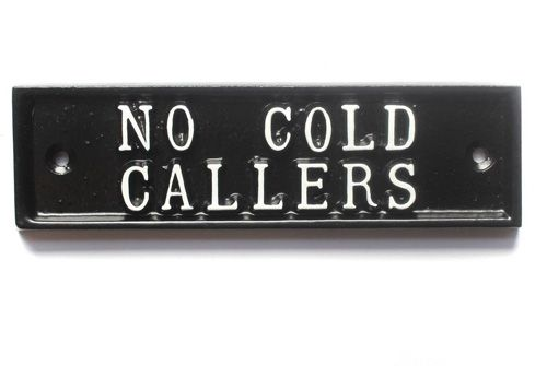 NO COLD CALLERS SIGN
