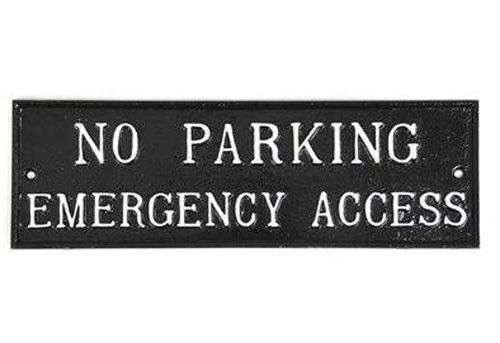 NO PARKING, EMERGENCY ACCESS SIGN