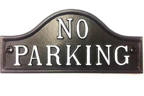 NO PARKING SIGN ARCHED