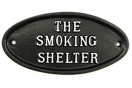 NO SMOKING SHELTER SIGN