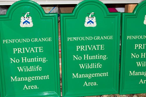 Normal Tombstone Fibreglass Signs (GRP)