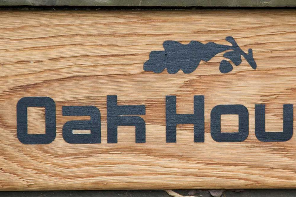 Oak Driftwood Effect House Sign