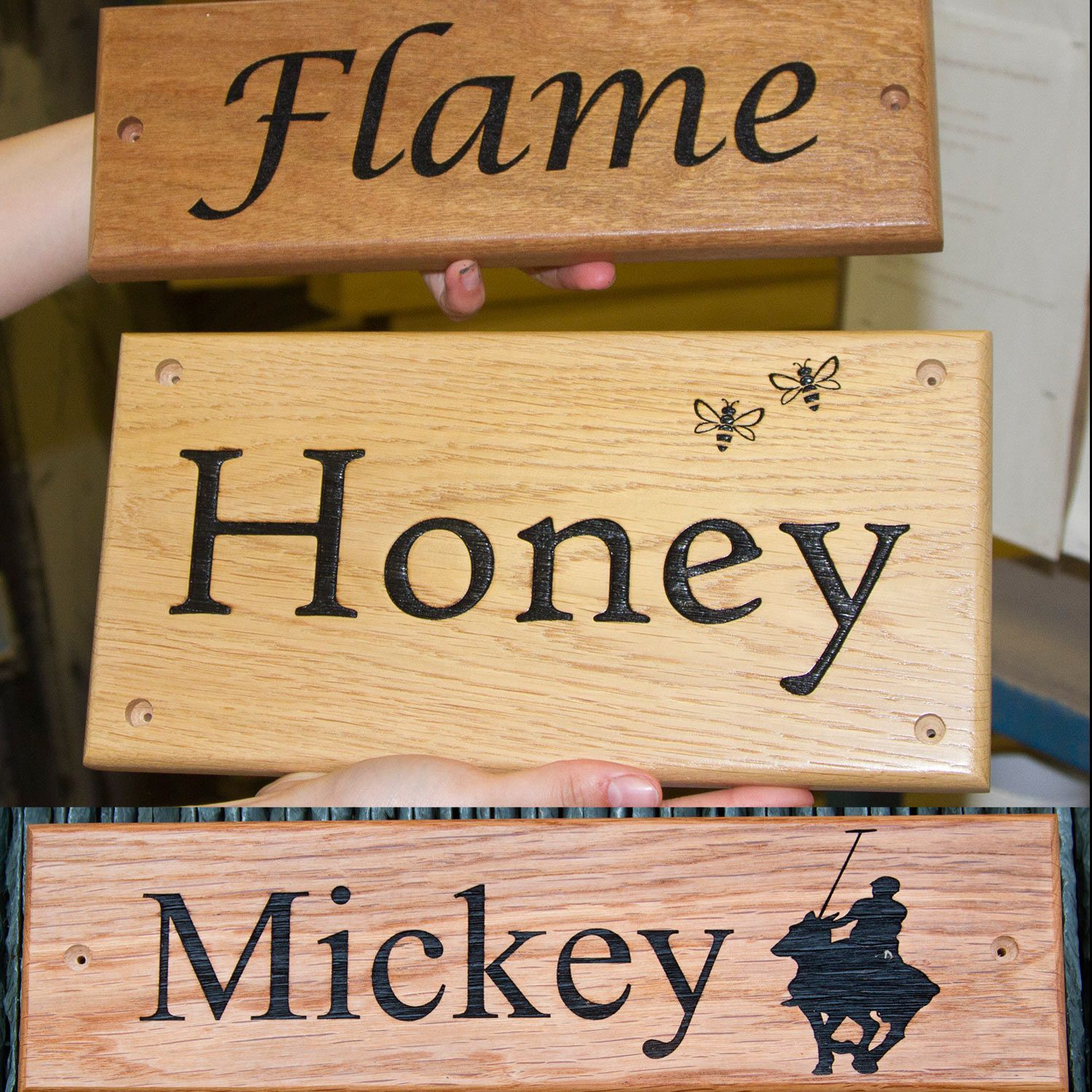 Online Sign Maker | Oak Horse Name Plate