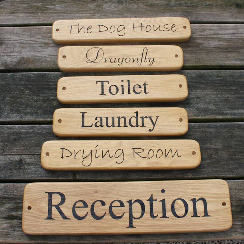 Oak House Signs - Standard Sizes