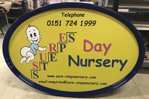 Online Sign Shop | Oval Fibreglass Signs