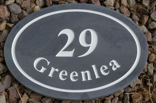 Oval Slate and Granite House Signs / Memorials
