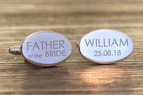 Oval Wedding Party Cufflinks