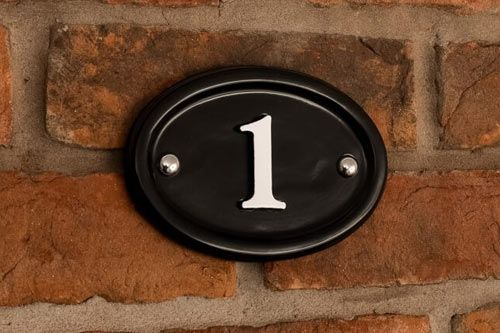 Painted Cast Aluminium House Number Sign | The Sign Maker Shop