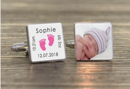 Photo Cufflinks for a new Daddy