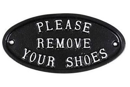 PLEASE REMOVE YOUR SHOES SIGN - LARGE