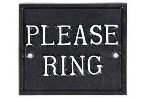 PLEASE RING SQUARE SIGN