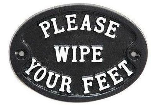 PLEASE WIPE YOUR FEET SIGN