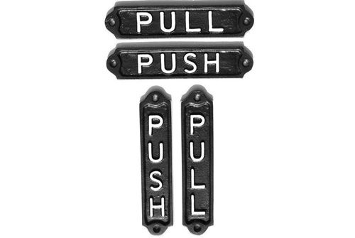 PUSH & PULL DOOR SIGNS