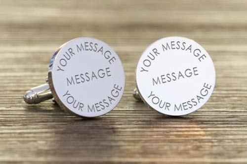 Round Any Message Cufflinks