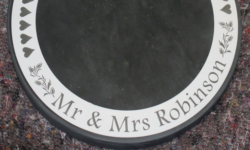 Round Slate Wedding Cake Stands / Table Centres